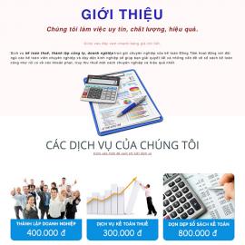 Website dịch vụ Kế Toán Đồng Tâm