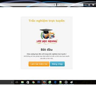 Website hệ thống làm trắc nghiệm đơn giản cho học viên