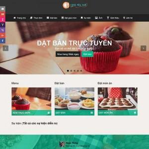 Website hệ thống cho quán ăn ( lớn hay nhỏ ), nhà hàng