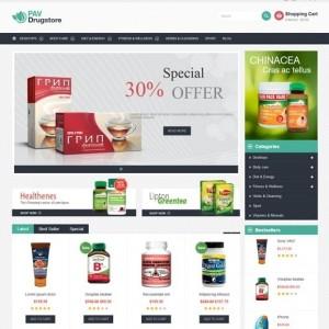 Website bán hàng online PavDrugStore gọn gàng và đẹp