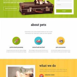 Website mẫu Pet Care cực đẹp và chuẩn