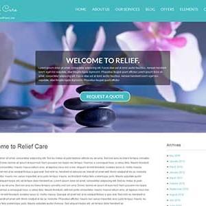 Website mẫu Relief