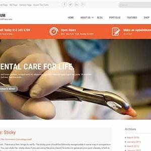 Website mẫu Sanitorium