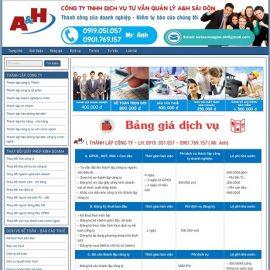 Website Dịch vụ tư vấn thành lập doanh nghiệp A&H