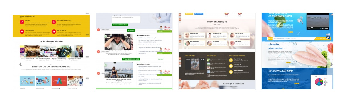 các mẫu website