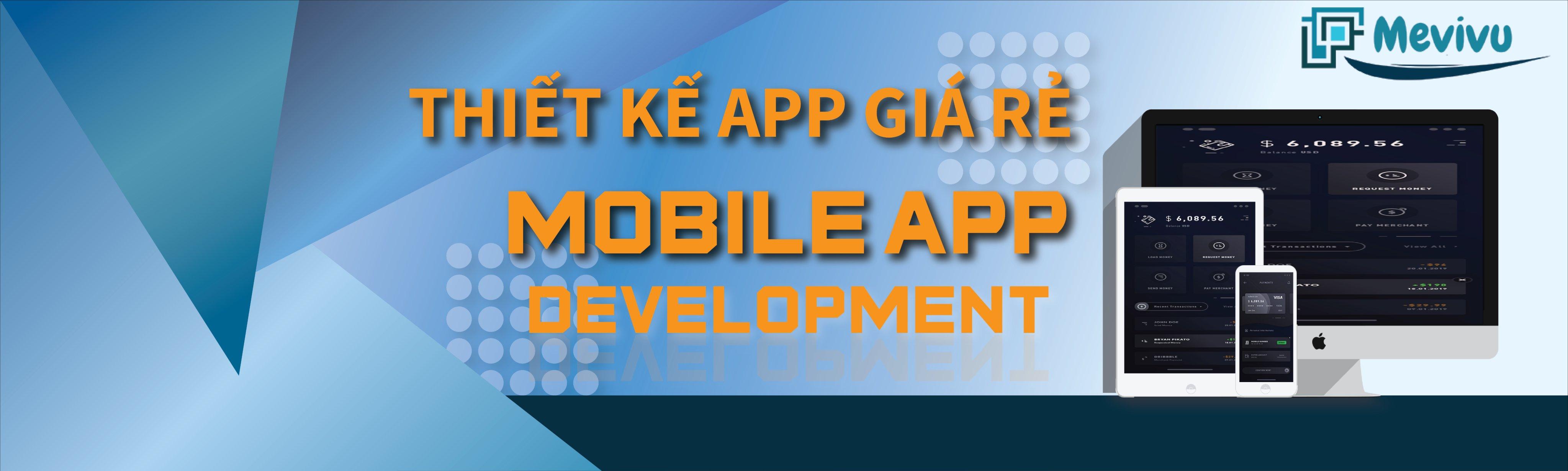 thiết kế app thương mại điện tử giá rẻ