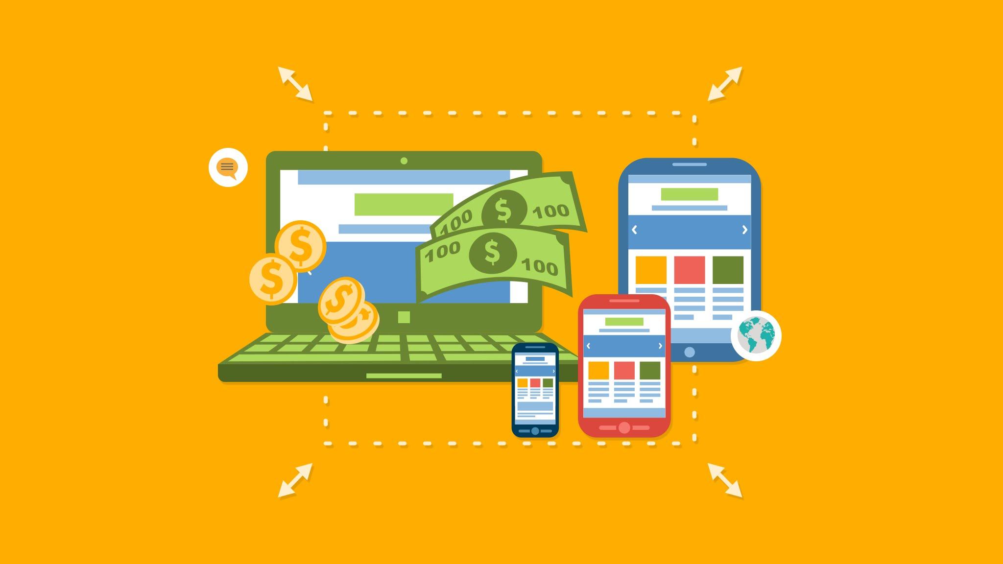 thiết kế app kiếm tiềm online