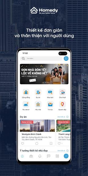 Thiết Kế App Bất Động Sản Homedy