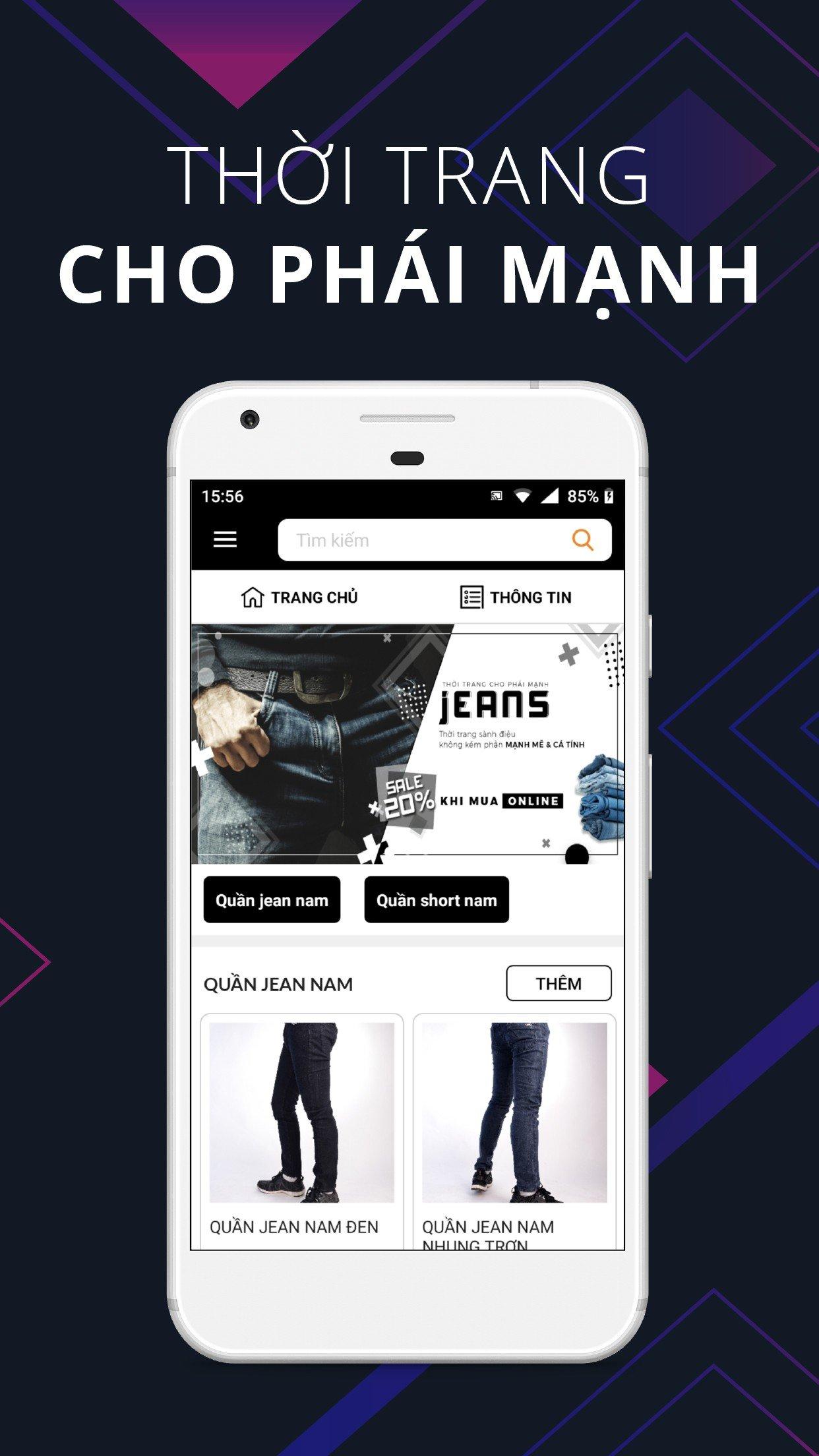 thiết kế app bán hàng online
