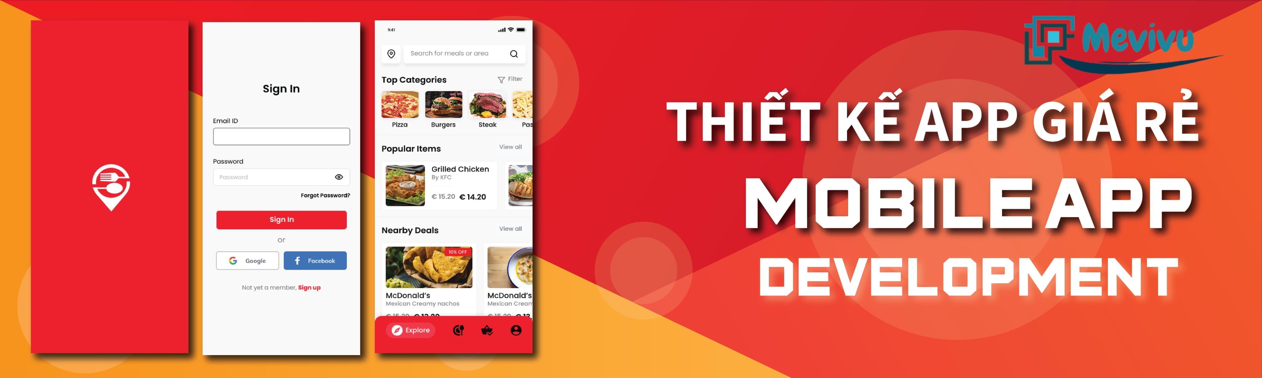 chi phí thiết kế app mobile